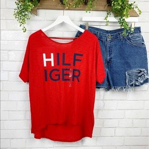NWT Tommy Hilfiger Open Back Slouchy Tee Sz L